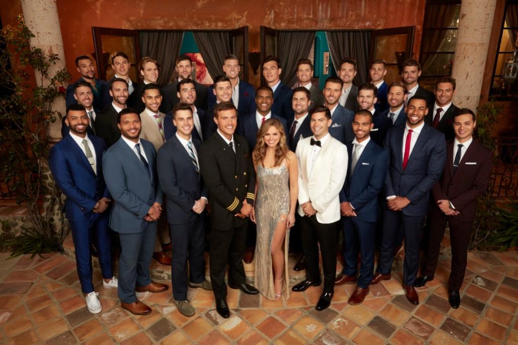 Bachelorette Hannah Brown and contestants season 15 cast group shot bachelor mansion