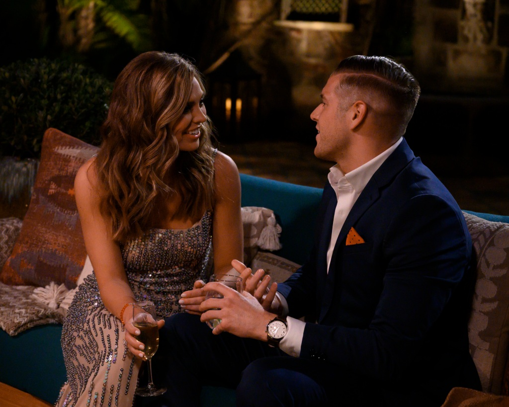 Bachelorette Hannah Brown Luke P. first impression rose pda bachelor contestants