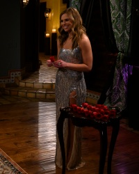 Hannah Brown bachelorette sparkly dress rose ceremony