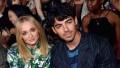 Sophie Turner green jumpsuit Joe Jonas blue suit 2019 Billboard Music Awards sitting together jobro performance