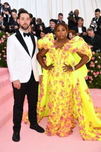 Serena Williams Alexis Ohanian 2019 met gala yellow dress with flowers white tux