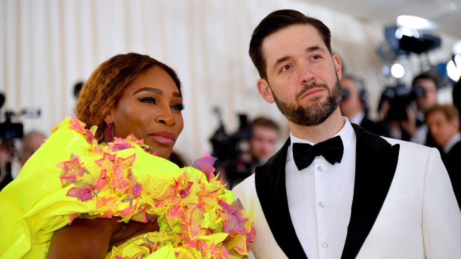 Serena Williams and Alexis Ohanian met gala couples met ball red carpet fashion camp