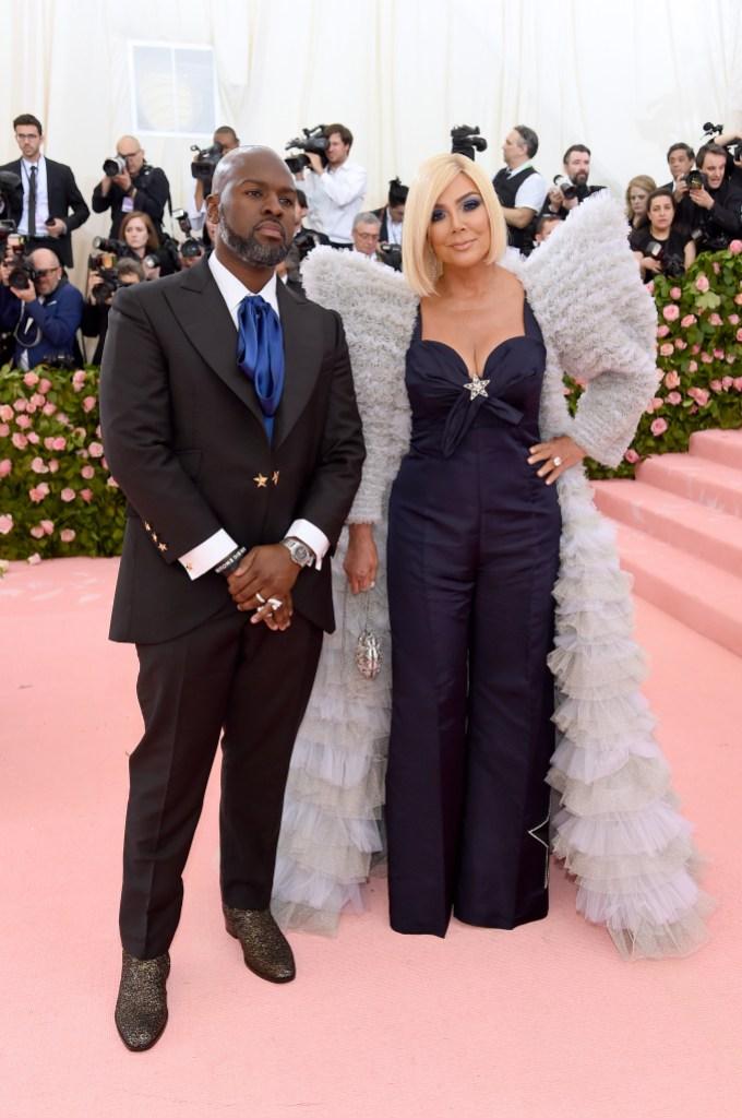 Corey Gamble and Kris Jenner blonde hair met gala 2019