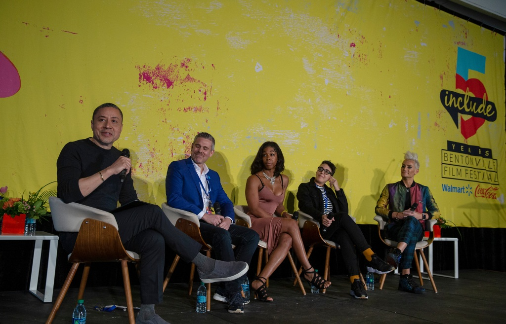 Craig Robinson, Jeremy Blacklow, Tamara M Williams, Carly Usdin and Frankie Grande bentonville film festival