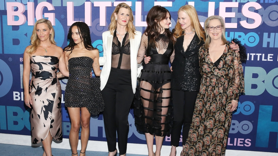 Reese Witherspoon, Zoe Kravitz, Laura Dern, Shailene Woodley, Nicole Kidman and Meryl Streep big little lies season 3 premiere red carpet