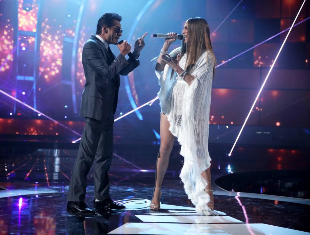 Jennifer Lopez Marc Anthony relationship marriage kids friendship singing at latin grammys