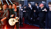 Jonas Brothers and BTS at the BBMAs