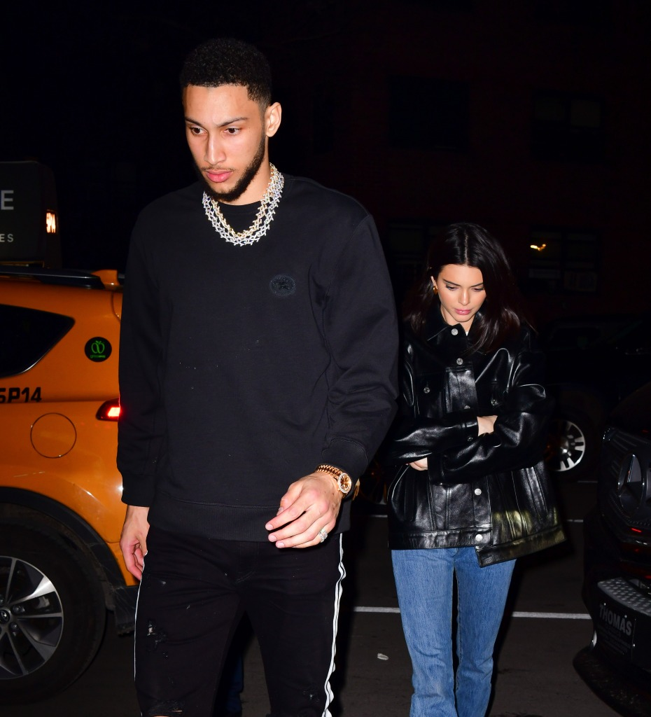 Ben Simmons With Kendall Jenner Wearing All Black