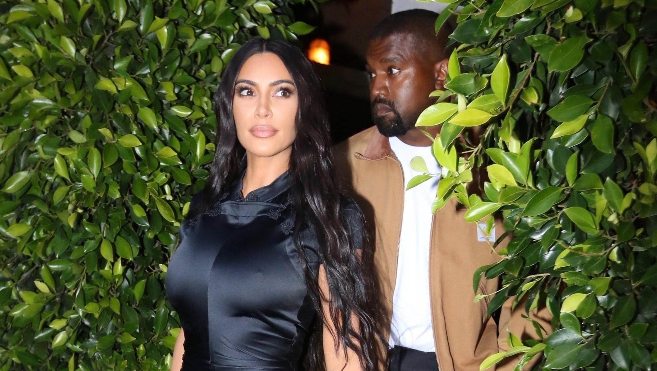 Sexy Mama! Kim Kardashian Wears a Skintight Dress While Grabbing Dinner With Kanye West