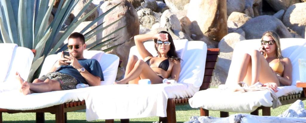 Kourtney Kardashian Scott Disick Sofia Richie mexico vacation together relationship