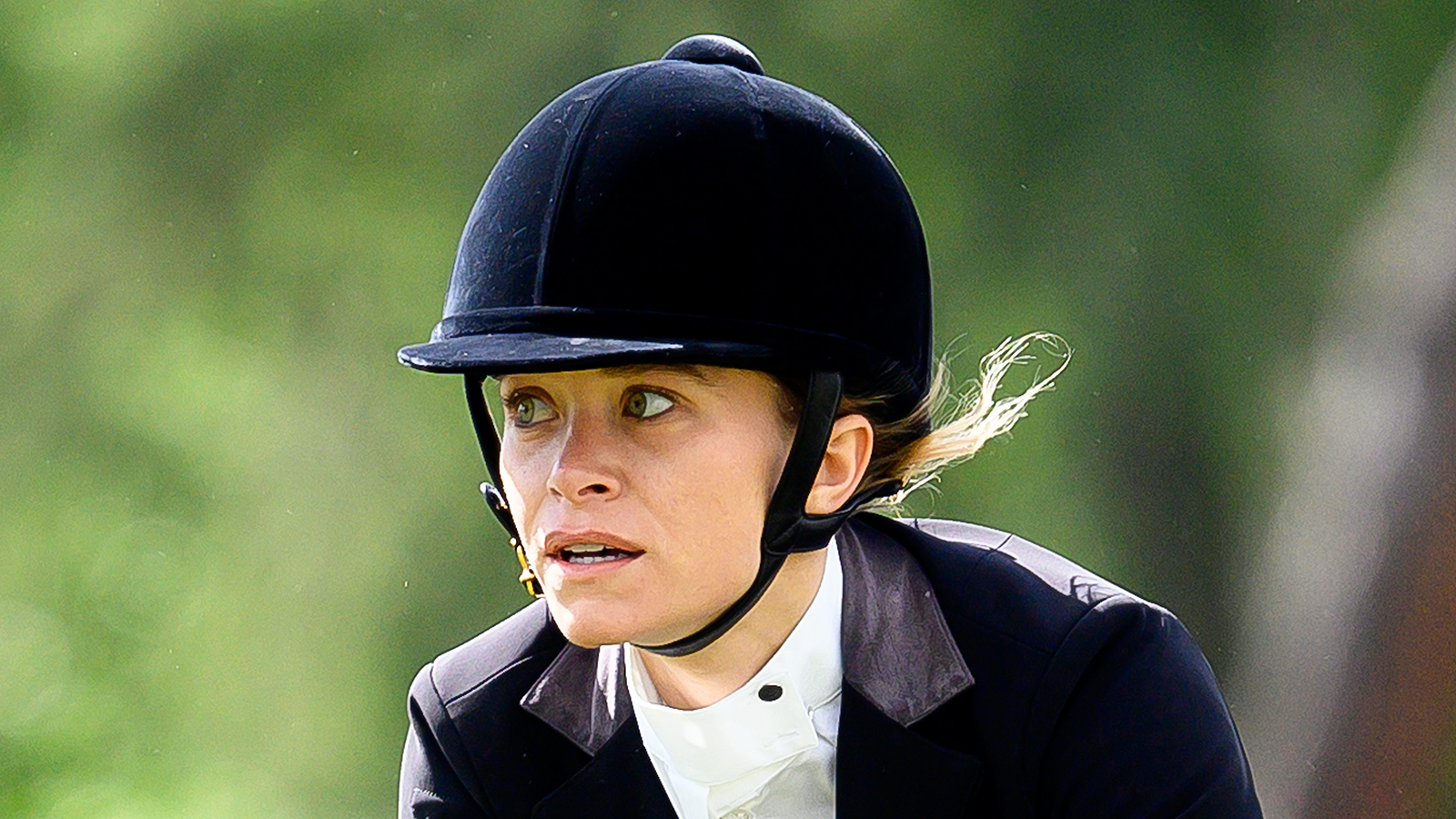 Mary-Kate Olsen Shows Off Her Impressive Skills During a Horseback Riding Competition
