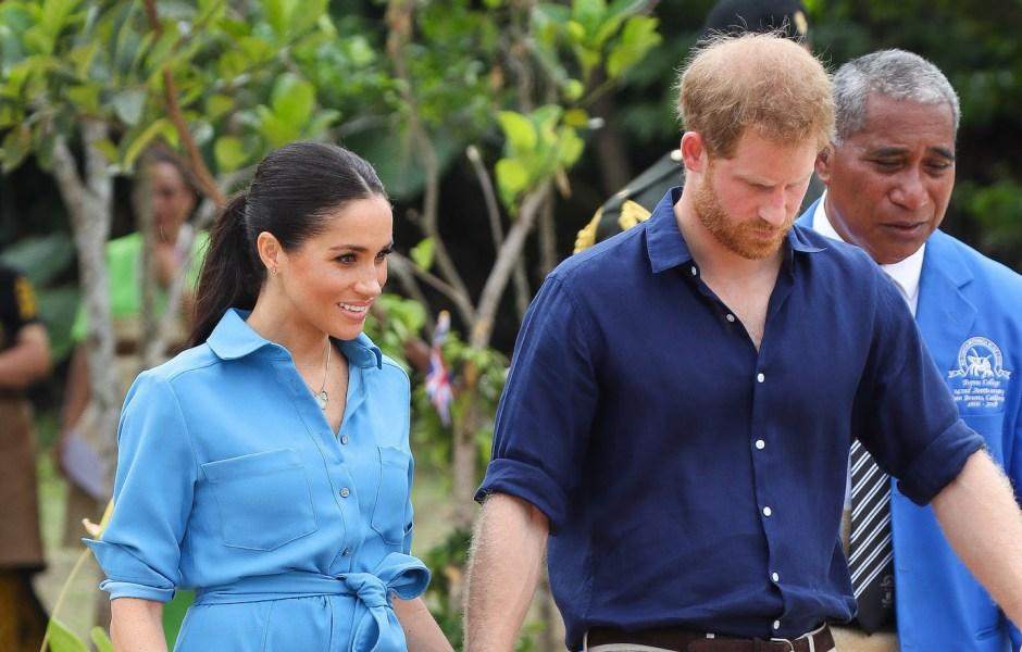 Meghan Markle Wearing Blue