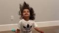 Dream Kardashian headbanging video blac chyna long hair curls adidas sweats