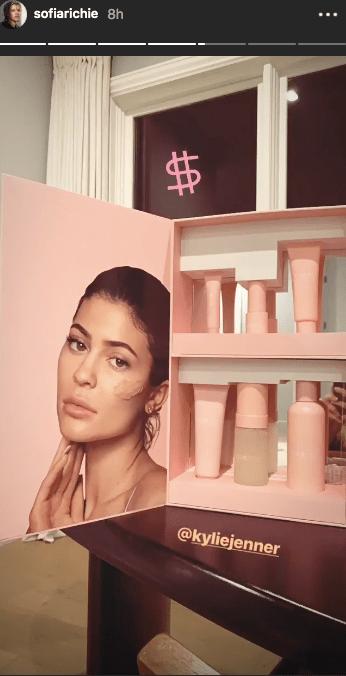 Sofia Richie Instagram Kylie Jenner Skin video promotion press box kylieskin