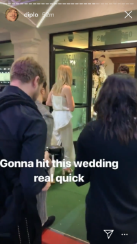Sophie Wears White to Wedding