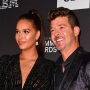 April Love Geary and Robin Thicke