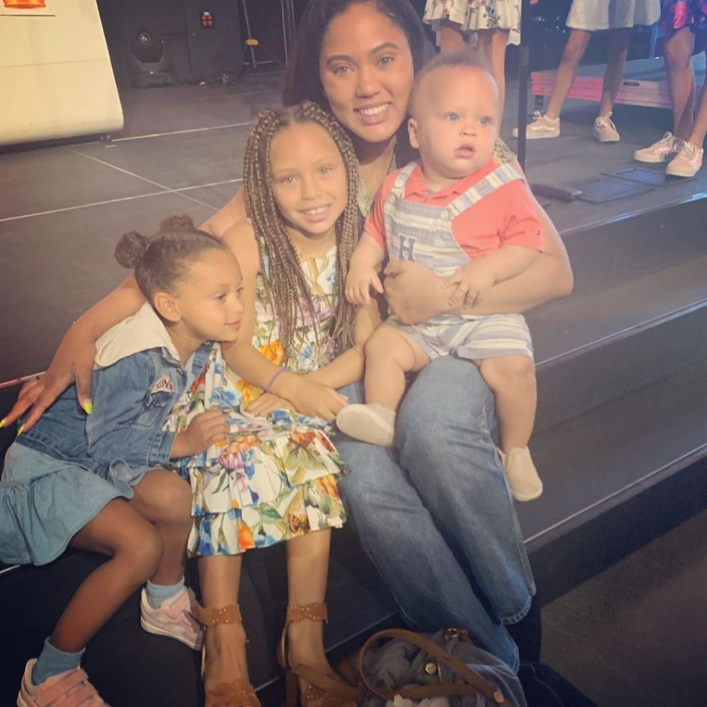 Ayesha Curry Riley Ryan and Canon kids stephen curry family nba