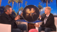 Blake sheton and Ellen DeGeneres