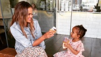 Chrissy Teigen Luna Legend hamster peanut butter feeding pets daughter luna legend