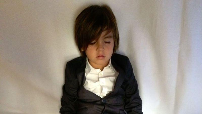 Kourtney Kardashian Shares the Funniest Pic of Mason Disick Sleeping at Kim and Kanye West's Wedding