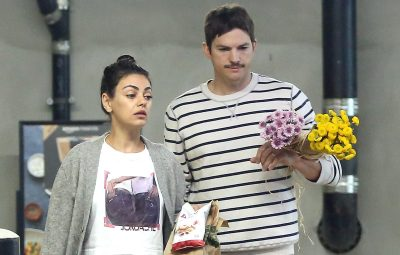 mila kunis ashton kutcher flowers
