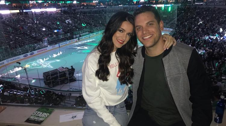 Bachelor in paradise Raven Gates Adam Gottschalk engagement still together hockey game pda cute