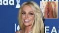 Britney Spears Toned Legs Rose Petal Bath