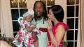 Cardi B and Offset Holding Their Daughter, Kulture.