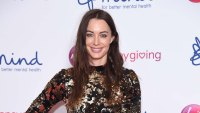 Emily Hartridge Wearing a Sparkly Dress