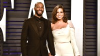 Justin Ervin and Ashley Graham Smile and Hold Hands at the Vanity Fair Oscars Afterparty