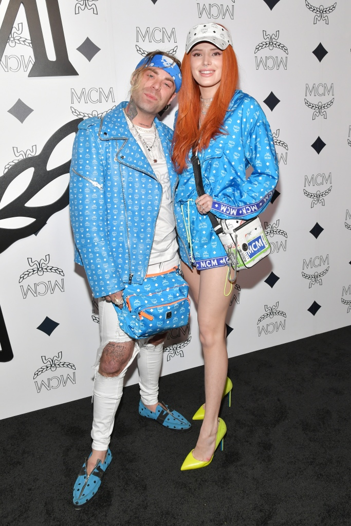 Bella Thorne and Mod Sun Stand in Matching BLue Outfits