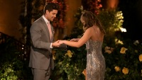 Hannah Brown and Contestant Garrett Hold Hands After Meeting Night One on The Bachelor