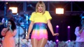 Taylor Swift On Stage yellow Shirt Rainbow Skirt New Album