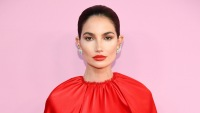 Lily Aldridge newborn baby winston kids pregnancy daughter dixie 2019 cfda fashion awards red dress red lipstick slicked back hair