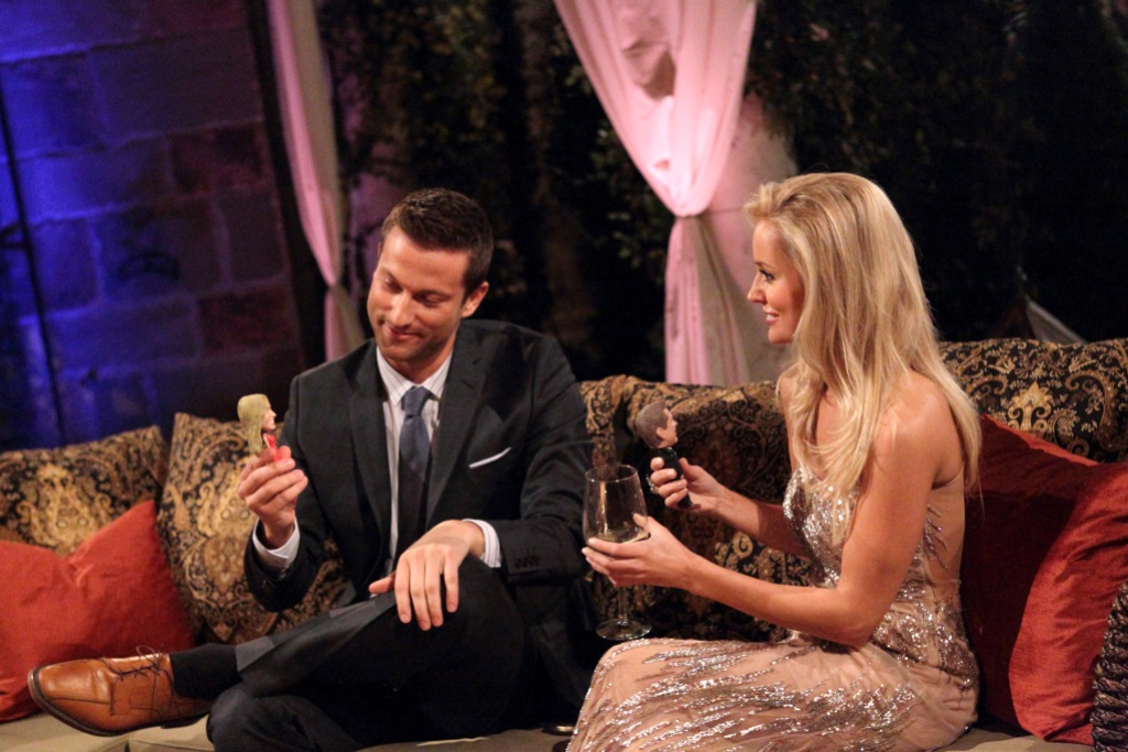 Chris Bukowski and Emily Maynard Sit Together on a Couch During The Bachelorette