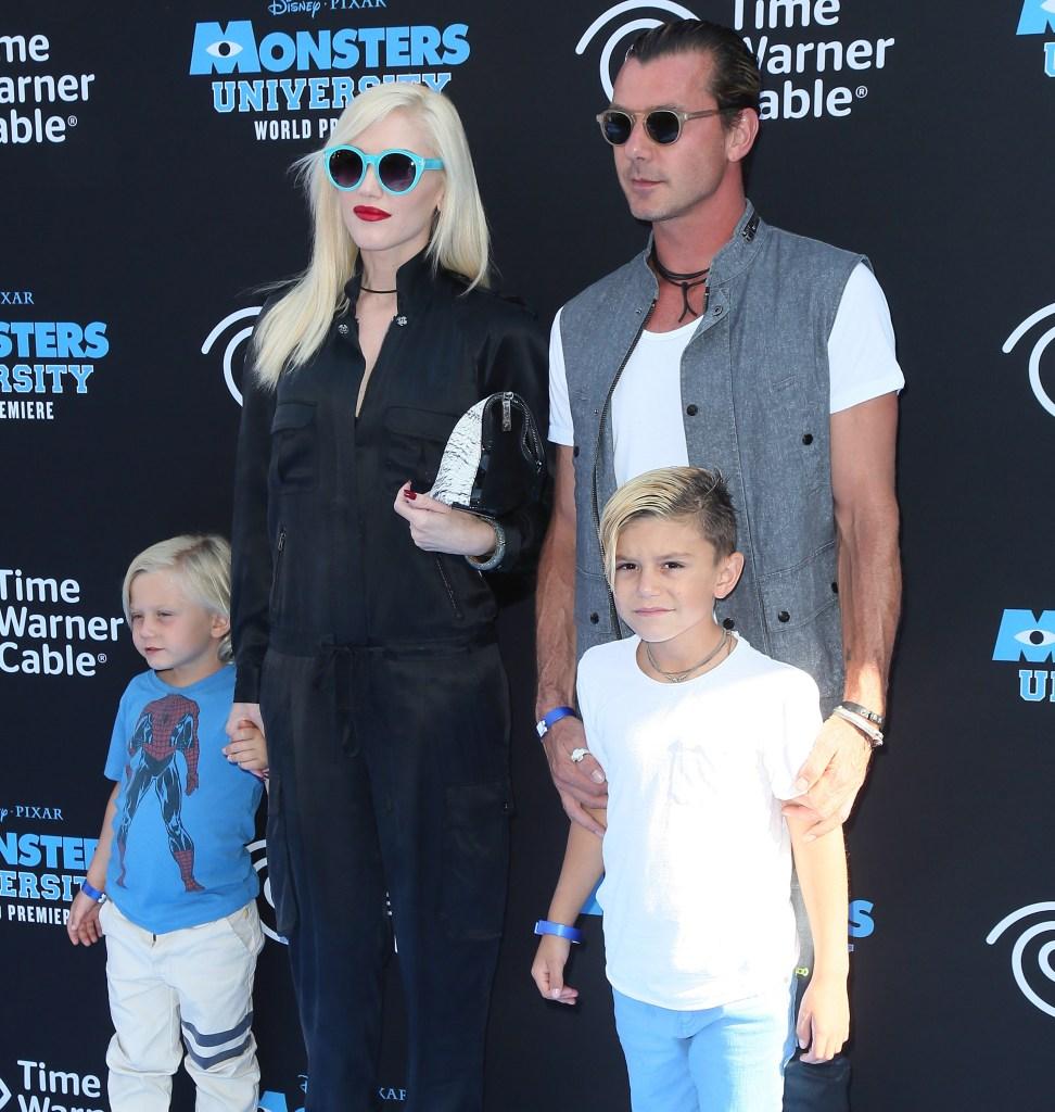 Gwen Stefani Gavin Rossdale kids