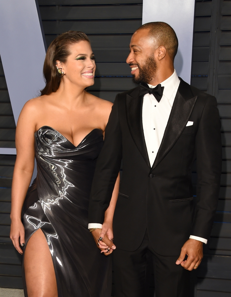 Ashley Graham Justin Ervin Stare at Each Other Lovingly and Hold Hands