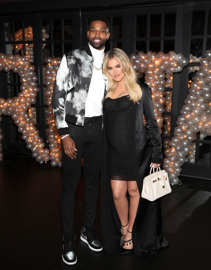 Tristan Thompson Stands Arm in Arm With Khloe Kardashian During His Birthday Party