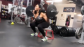 Jordyn Woods working out on her Instagram Story