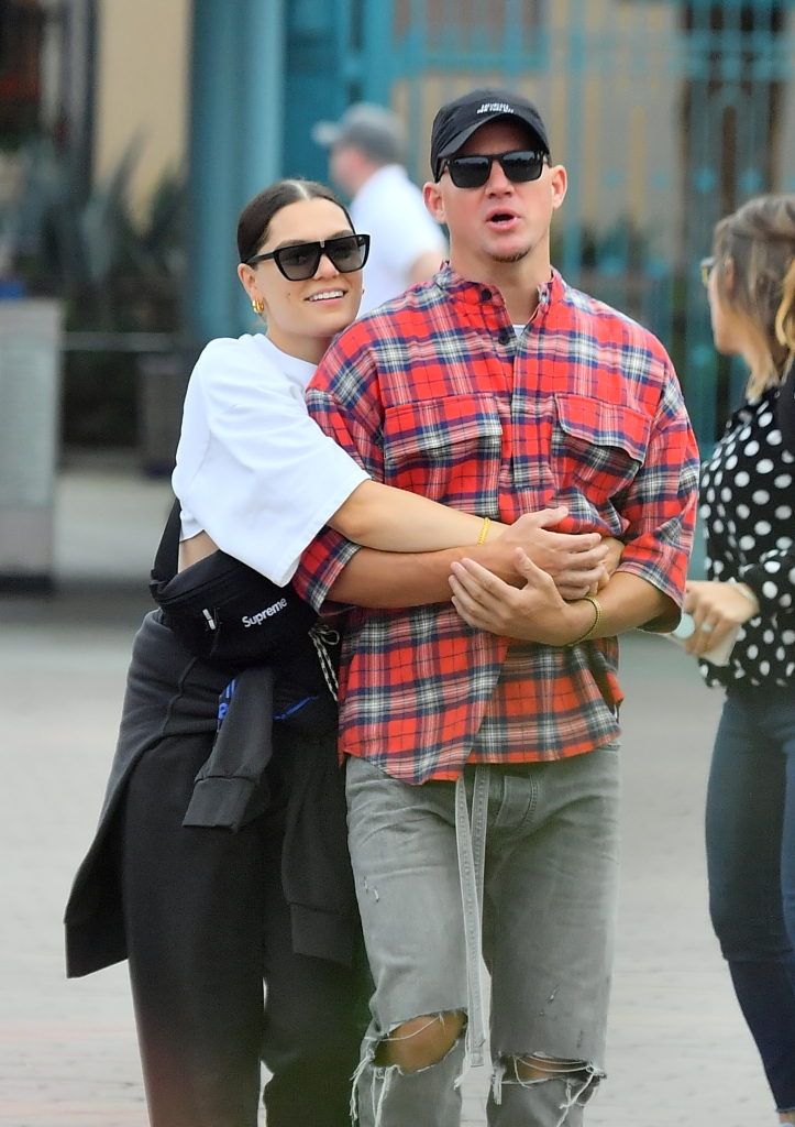 Jessie J Channing Tatum relationship disney land pda hugging