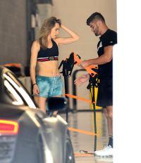 Suki Waterhouse dogpound los angeles trainer gym workout
