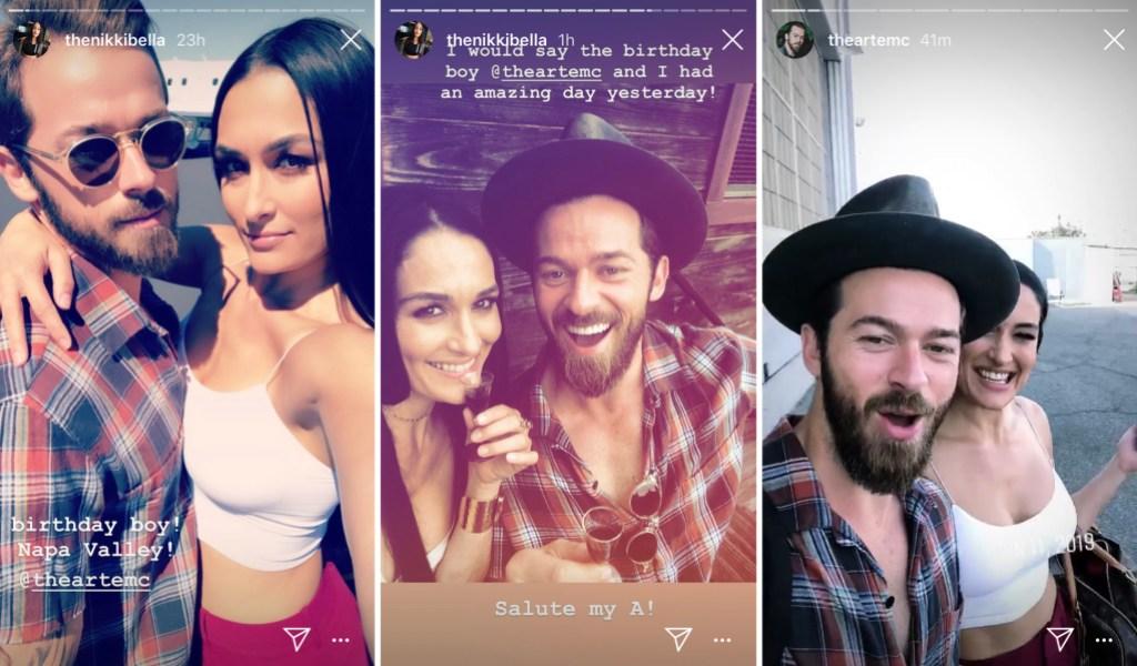 Nikki Bella and Artem Chigvintsev Celebrate His Birthday