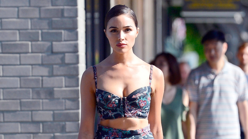 Olivia Culpo abs Floral Outfit