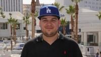 Rob Kardashian Wearing a Baseball Hat
