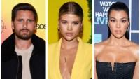 Scott Disick Sofia Richie Kourtney Kardashian side by side headshots trip to costa rica