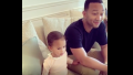 Luna Stephens and John Legend Chrissy Teigen candy negotiation instagram video luna talking candy cute