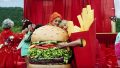 Taylor Swift and Katy Perry Hug While Wearing a Burger Costume and French Fry Costume During You Need to Calm Down Music Video