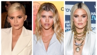 A split image of Kylie Jenner, Sofia Richie and Khloe Kardashian
