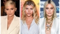 A split image of Kylie Jenner, Sofia Richie and Khloe Kardashian