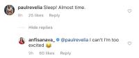 Anfisa Nava Instagram Comment